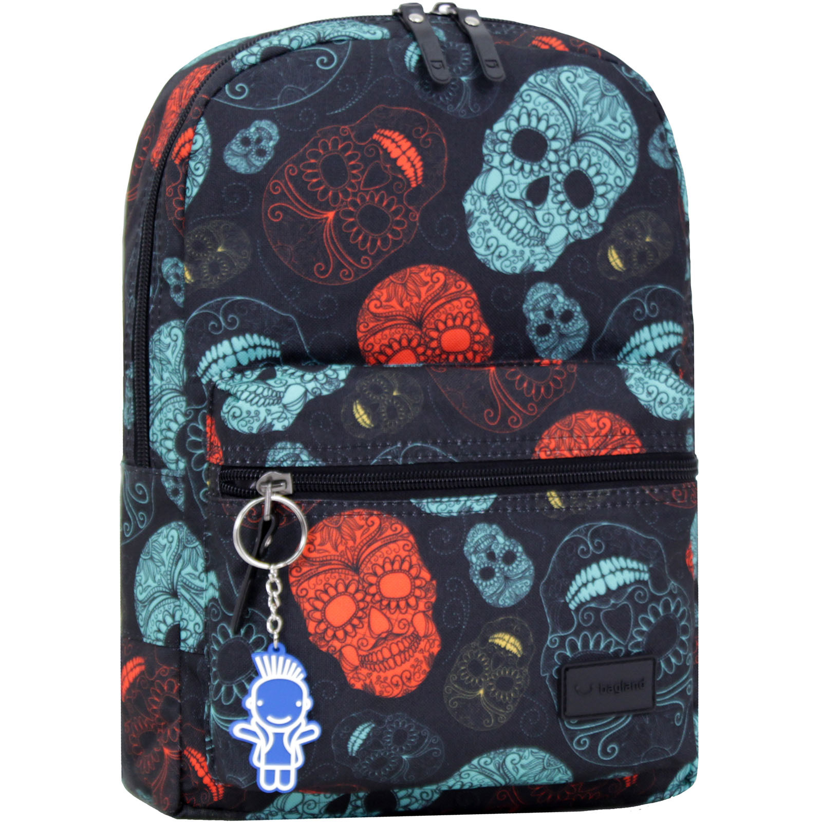 Детские рюкзаки Рюкзак Bagland Молодежный mini 8 л. сублимация (черепа) (00508664) IMG_0337_арт.106_.JPG