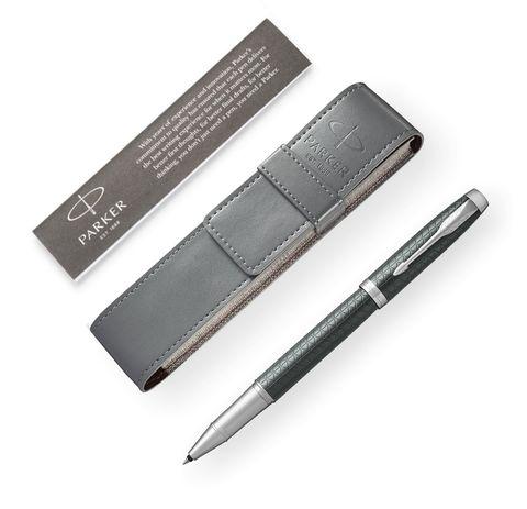 Набор: Чехол для ручки и Ручка роллер Parker IM Premium Dark Green CT123