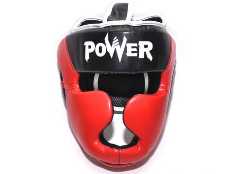 Шлем боксерский POWER, ПВХ, цвет красный, размер L :HT-P-L-K: