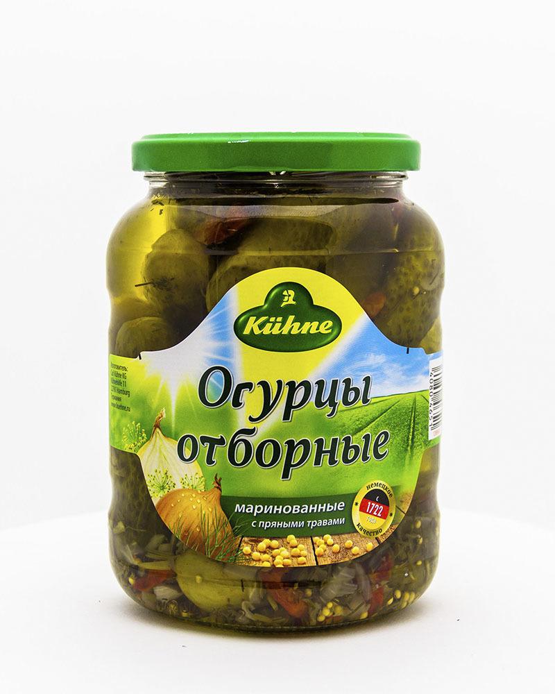 Огурцы Kuhne Отборные 670 гр.