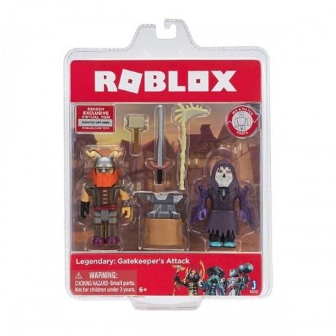 Игровая коллекционная фигурка Jazwares Roblox Game Packs Legendary: Gatekeeper's Attack, набор 2 шт.