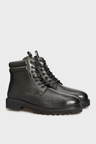 Мужские черные кожаные ботинки Sander PRPY