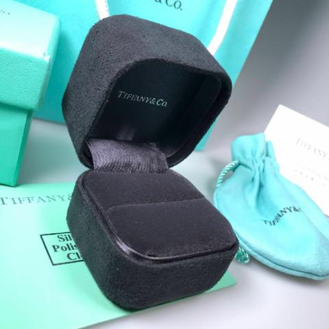 Подарочный комплект упаковки lux под кольцо/серьги  TIFFANY
