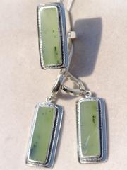 Трунса (кольцо + серьги из серебра)