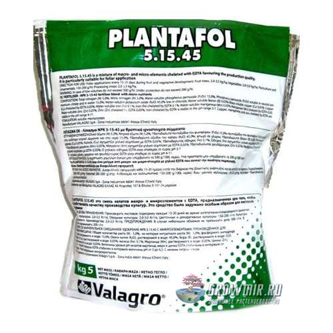 Valagro Plantofol 5-15-45 - 100 гр. Россия