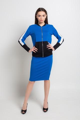 Спортивный костюм с олимпийкой и юбкой женский оптом