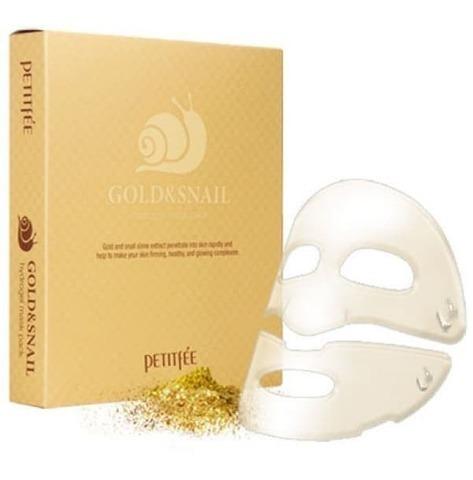 Petitfee Gold & Snail Hydrogel Mask Pack гидрогелевая маска с золотом и экстрактом слизи улитки