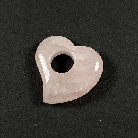 Розовый кварц Сердце кулон 30 мм