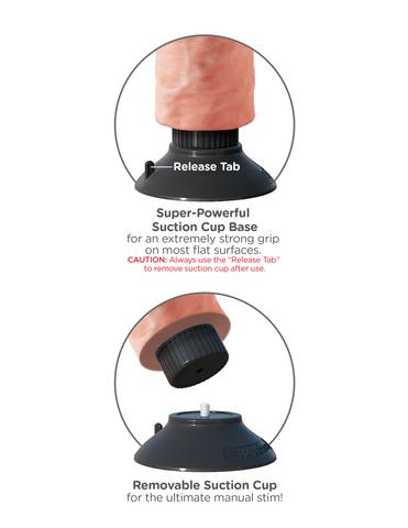 Вибромассажер реалистик на присоске 3 в 1, 8 Vibrating Cock