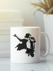 Кружка с изображением Майкла  Джексона (Michael Jackson) белая 0012
