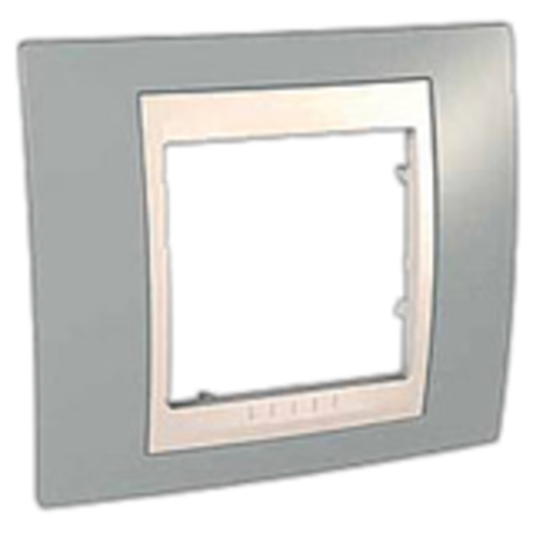 Рамка на 1 пост. Цвет Серый/Белый. Schneider electric Unica Хамелеон. MGU6.002.865