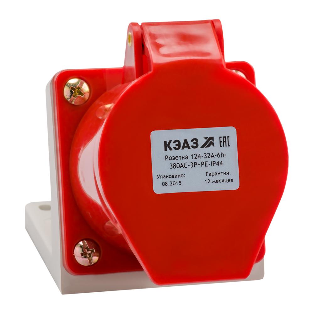 Розетка для монтажа на поверхность 134-63A-6h-380AC-3P+PE-IP67