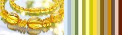 с чем носить лимонный янтарь - цветовая шпаргалка для подбора одежды
