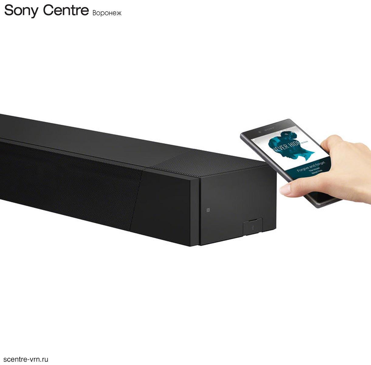 Сопряжение саундбара Sony HT-ST5000 со смартфоном через NFC