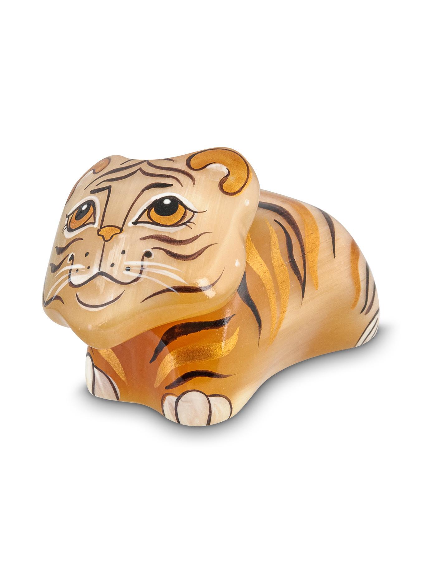 Тигр, символ нового, 2022, года, из натурального камня - селенита