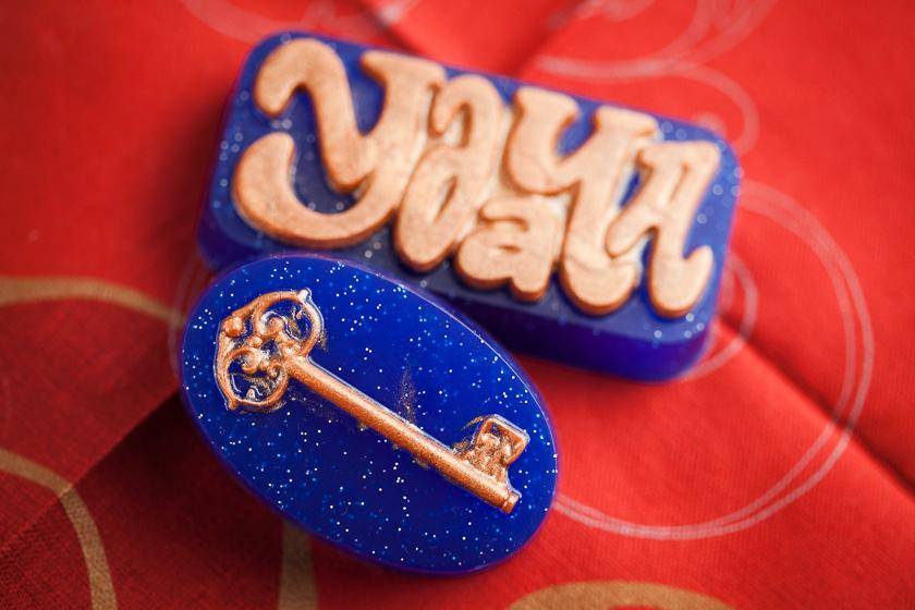 Пластиковая форма для мыла Дверной ключ. Готовое мыло