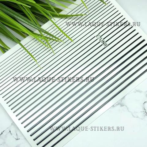 3D эластичные наклейки полосы BLACK (гнутся)