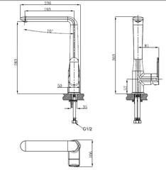 Смеситель KAISER Estilo 62044 для кухни схема