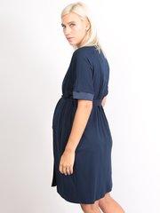 Euromama/Евромама. Комплект халат и сорочка вискозный шелк, темно-синий вид 4