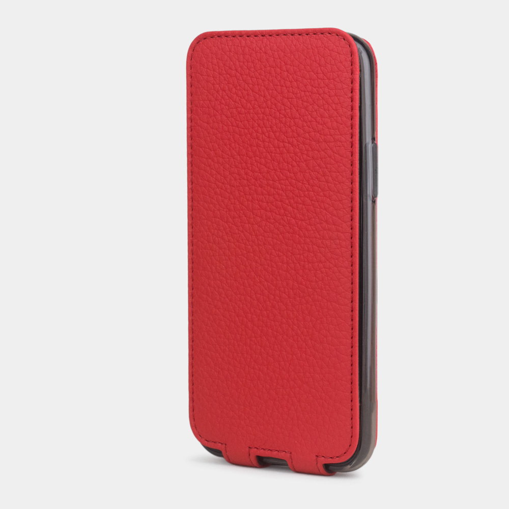 Чехол для iPhone 11 Pro из натуральной кожи теленка, красного цвета