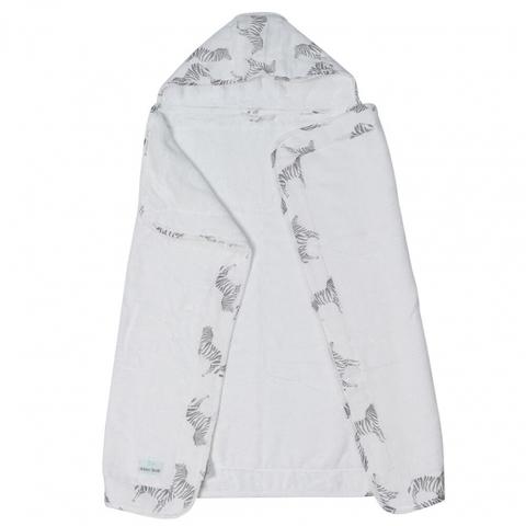 Полотенце с капюшоном 0+ Adam Stork Zebra 70 х 91,5 см.