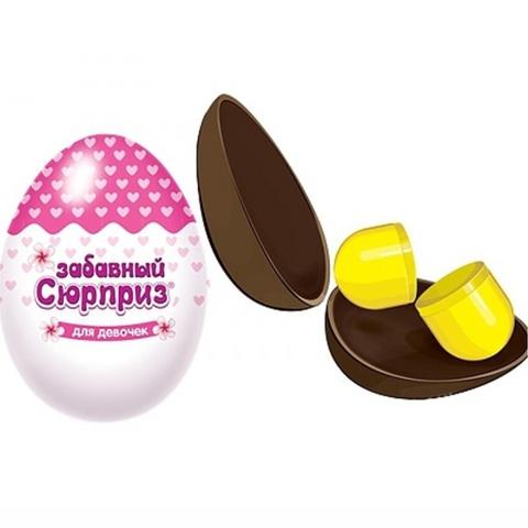 Яйцо шоколадное ЗАБАВНЫЙ СЮРПРИЗ Сладкая сказка