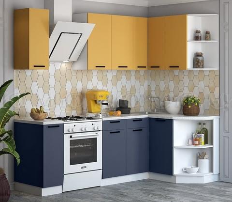 Кухня Угловая Техно NEW 1,7-1,3 м №6