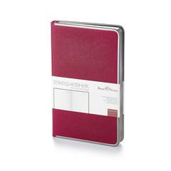 Ежедневник недатированный Bruno Visconti Bridge искусственная кожа А5 136 листов бордовый (серебристый обрез, 130х212 мм)