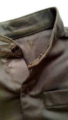 Рубашка хаки со стойкой