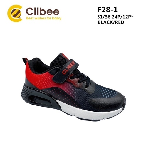 Clibee F28-1 Black/Red 31-36