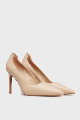 Женские бежевые кожаные туфли Rebeca PRPY