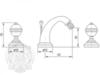 Смеситель для биде на 3 отв. Migliore Cristalia Swarovski ML.CRS-3725 схема