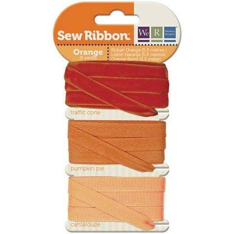 Набор лент. We R Memory Keepers Sew Ribbon - 5,5м-Orange