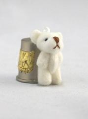 Игрушки для кукол - МИШКА плюшевый, 4-4,5 см. 1 шт.