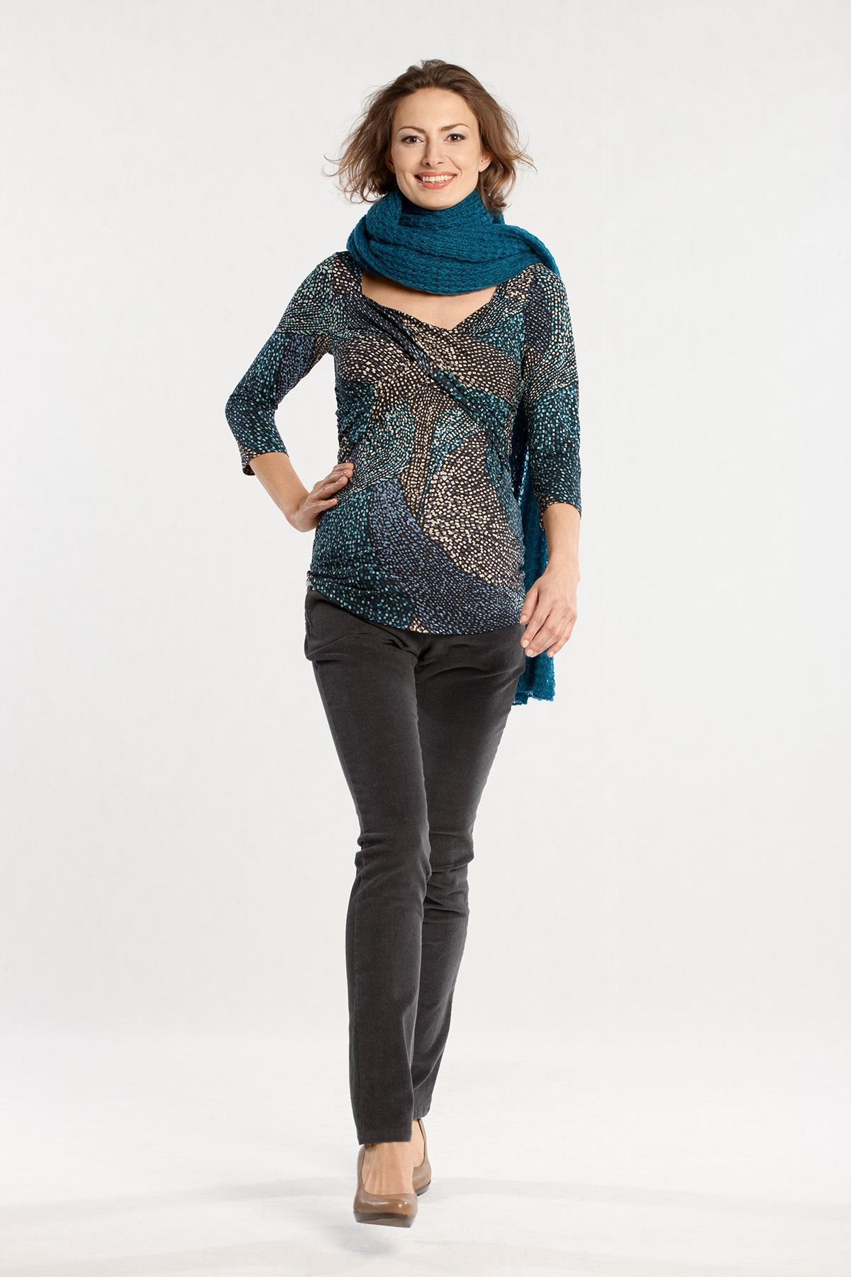 Блузка для беременных 01125 бирюзовый