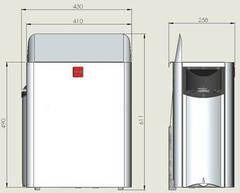 HARVIA Электрическая печь Wall HSW800400M SW80 черная