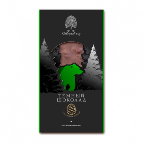 Шоколад темный с кедр орех 100гр Сибирский кедр