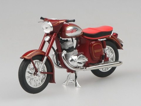 Jawa 350 Kyvacka Automatic 1966 dark red Abrex 1:18