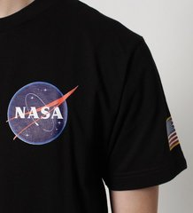 Футболка Alpha Industries NASA Black (Черная)