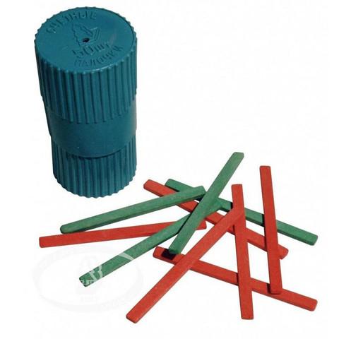 Счетные палочки Можга деревянные 50 штук в пластиковом тубусе