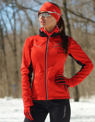 Утеплённый лыжный костюм Nordski Premium 2018 Red/Black женский