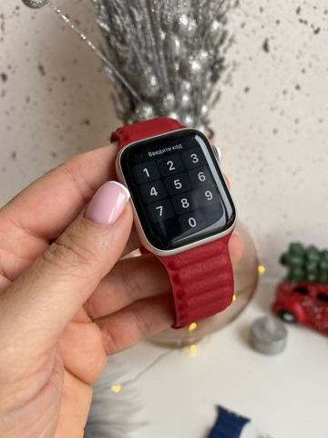 Ремешок Apple Watch 38/40 mm Leather Link /red/