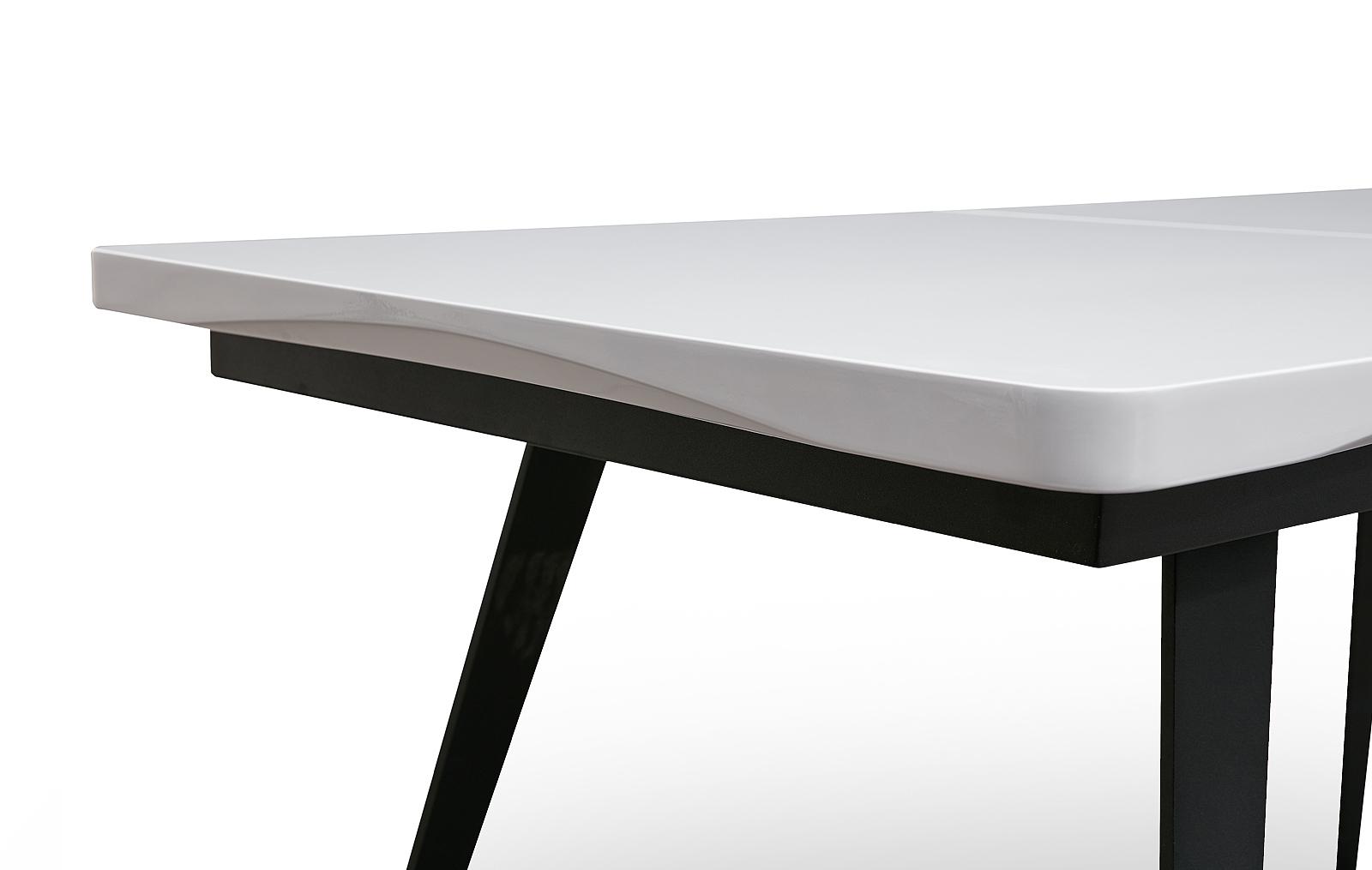 Стол ESF DT-93 белый/черный