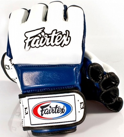 Перчатки MMA Fairtex Sparring Gloves FGV17 White/Blue