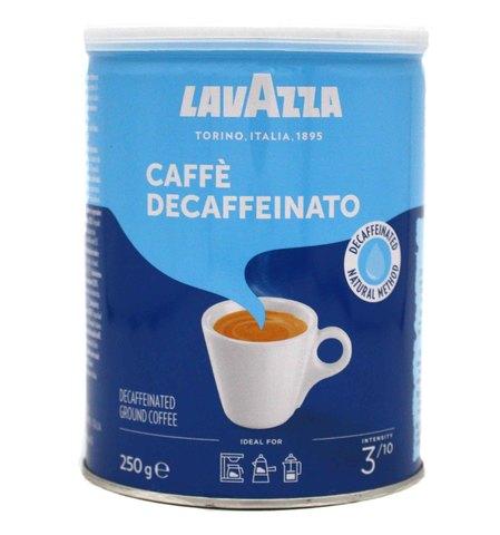 Кофе молотый без кофеина Caffe Decaffeinato, Lavazza, 250 г