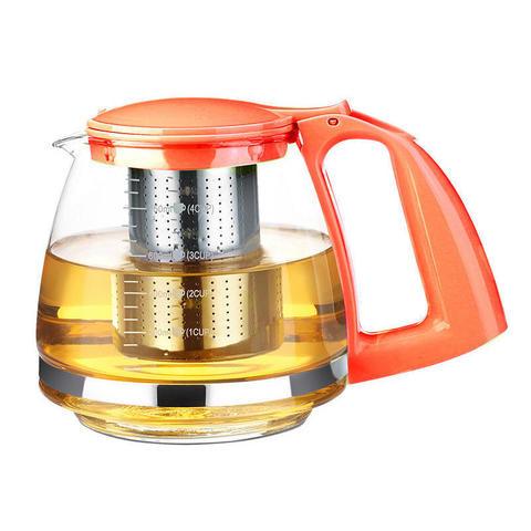 Стеклянный заварочный чайник Имбирь - Tima 750 мл
