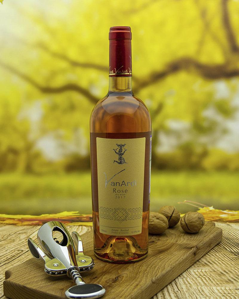 Вино Van Ardi Розовое Cухое 2017 г.у. 12,5% 0,75 л.