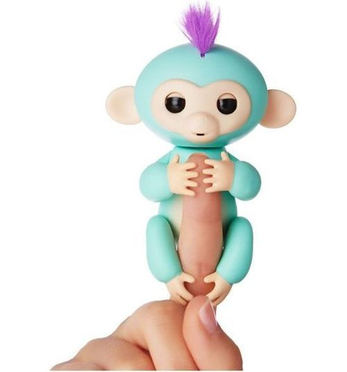 Интерактивная обезьянка Fingerlings Зоя зелёная