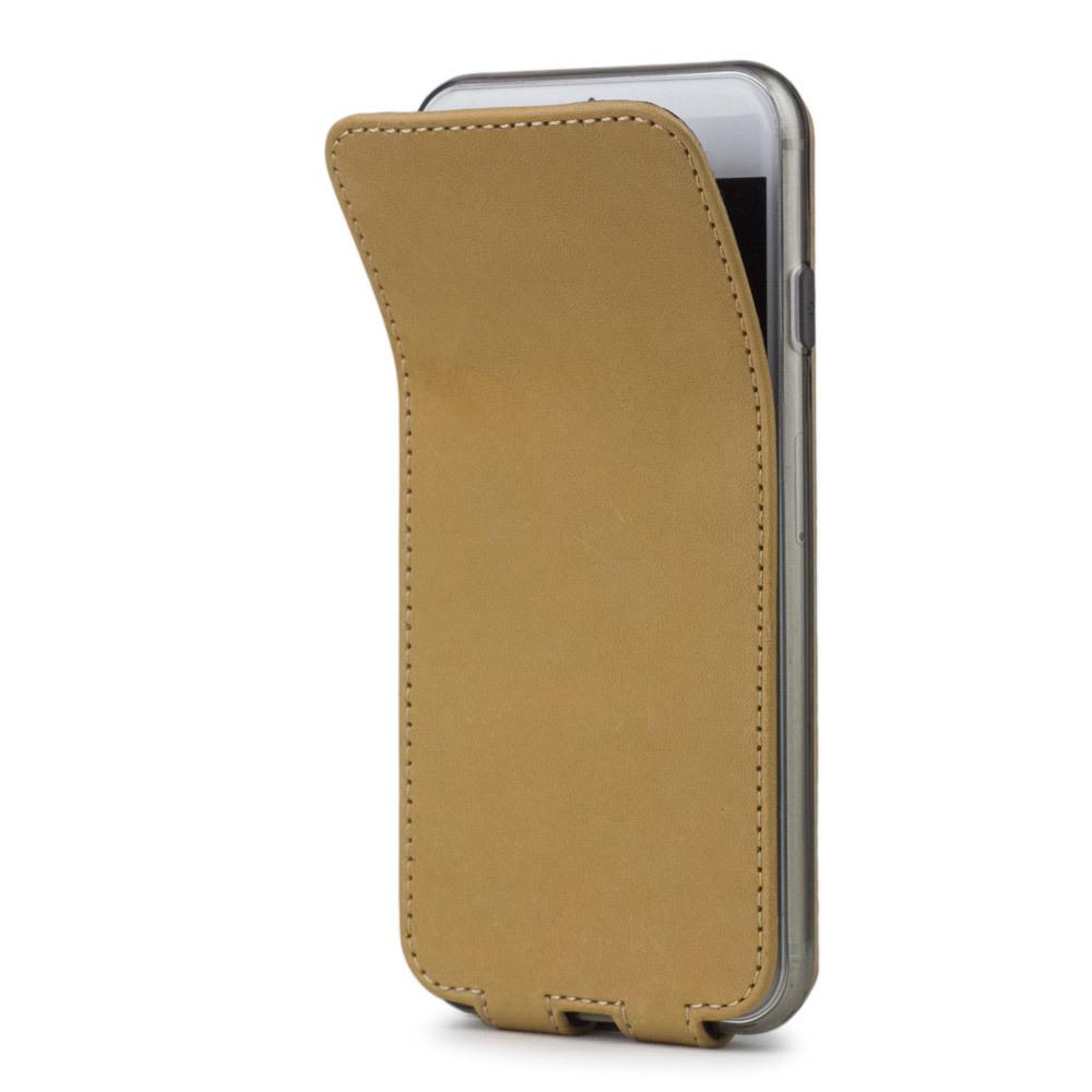 Чехол для iPhone 7 из натуральной кожи теленка, натурального цвета