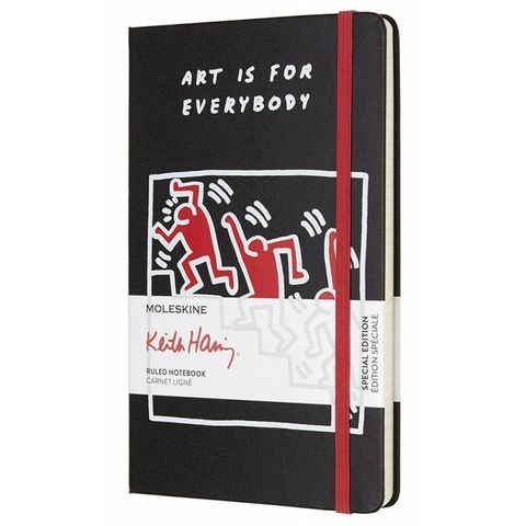 Блокнот Moleskine Limited Edition KEITH HARING LEKH01QP060 Large 130х210мм 240стр. линейка черный